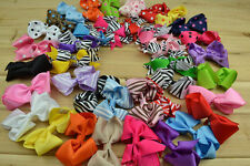 HUGE LOT 20PCS Girl Baby Hair Bows Boutique Grosgrain Ribbon Headband A+
