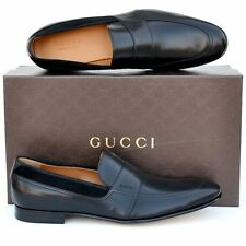 GUCCI New sz UK 11 - US 12 Auth Designer Mens Leather Dress Loafers Shoes Black