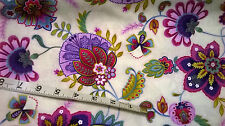 Timeless Treasure Cotton Fabric Fat Quarter bold paisley floral pink purples