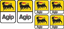 6x AGIP STICKERS SPONSOR SHEET DECALS VINYL DECAL STICKER