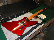 Vintage Hondo Destroyer Guitar Metallic Red Loaded w' 2 Duncan Humbuckers