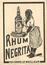 RHUM NEGRITA PUBLICITE 1911