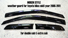 @MU TOYOTA HILUX VIGO MK6 2005-2011 SIDE VISOR RAIN SHIELD WIND DEFLECTOR GUARD
