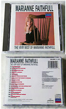 MARIANNE FAITHFULL Very Best / As Tears Go By,... 1987 Blue Red London CD TOP