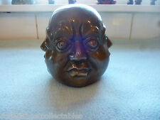 Beautiful Bronze Four Faces Buddha Bust / Head With Foundery Seal