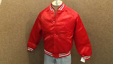Vtg King Louie Pro-Fit Quilted Satin Jacket sz S Red/White NOS USA Made BLANK