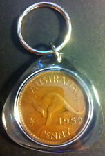 Awesome Collectible Australian 1952 A. Perth Mint Birthday Penny Key Ring