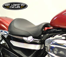 Black Contour Style Solo Seat for 2004-2006 2010-2014 Harley Sportster XL