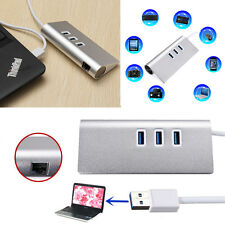 NEW USB 3.0 to LAN/RJ45 Gigabit Ethernet Network Cable Adapter + 3 Port Hub USB
