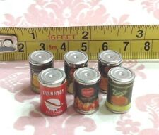 Dollhouse Miniature Kitchen/Home/Shop Food Metal Canned Food 15mm 6pcs Scale1:12