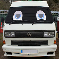 VW T25 Window Front Camper Van Screen Curtain Wrap Cover Eyes Transporter