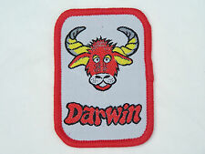 VINTAGE DARWIN NORTHERN TERRITORY EMBROIDERED PATCH SOUVENIR CLOTH SEW-ON BADGE