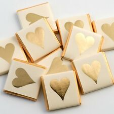 100 Gold Heart Chocolate Neopolitans Wedding Favours