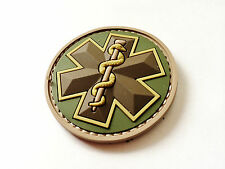 Multicam Tactical Mil-spec Monkey  Medic EMT Star Caduceus PVC Patch