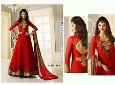 Stylish red colour wedding designer Anarkali suit salwar kameez Dress Material