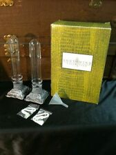 Southwind Collection Pair of OIL Candle Sticks-Blown Glass Candle Holders-Lamp
