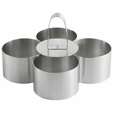 Pro Stainless Steel 4-Piece Food Ring Press Set Cooking Presentation Rosti UK