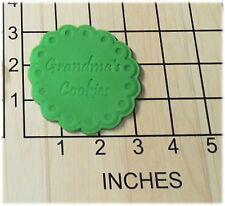 Grandma's Cookies Shaped Fondant Cookie Cutter and Stamp #1154