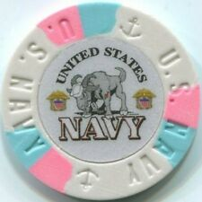 4 pc 4 colors United States NAVY poker chips samples set #230 military