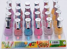 Nail polish NEON Glitter Freckles LOT of 6 NEW BOTLES YES LOVE 15ml SUMMER G11