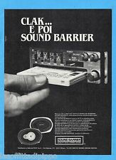 QUATTROR981-PUBBLICITA'/ADVERTISING-1981- SOUND BARRIER - AUTO STEREO (vers.A)