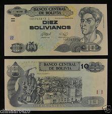 Bolivia Paper Money 10 Bolivianos 1986 (2012) UNC