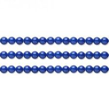 Round Malaysia Jade Beads (Dyed) Lapis Blue 4mm 16 Inch Strand