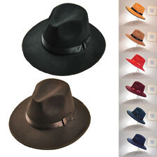 Men Women Retro Vintage Felt Hat Outdoor Cap Wide Brim Beach Summer Hat Caps
