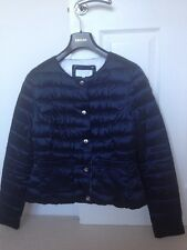 Escada goose down quilted reversible navy & white jacket size 12 £149
