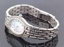 Movado 14k White Gold & Diamond Mother Of Pearl Unique Watch 0.50 TCW 34.2g