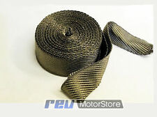 15 METERS TITANIUM HEAT WRAP EXHAUST INSULATING TAPE DOWNPIPE  MANIFOLD RAP