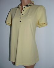 NWT AUTHENTIC BURBERRY BRIT SOFT-YELLOW LADIES POLO T-SHIRT, SIZE XL , WAS £ 125
