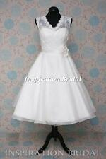 1569 short wedding dresses tea knee length vintage inspired 50s 60s plus size