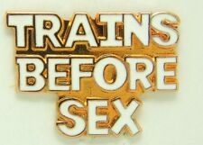 Railroad Hat-Lapel Pin/Tac- Trains before sex #1653-NEW