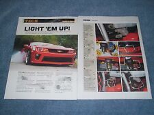 "2010 Camaro SS TCI Roll Stop Install Tech Article ""Light 'Em Up"" Line Lock"