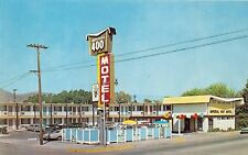 POCATELLO IDAHO POSTCARD IMPERIAL 400 MOTEL THRIFTY RATES 1960s