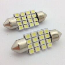 2x 16 LED 3528 SMD Auto Dome Striscia Luce Interna 42mm Lampada Bianco Brillante