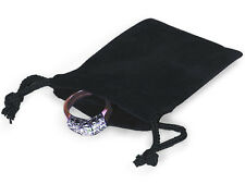 100 BLACK 2x2 Jewelry Pouches Velour Velvet Gift Bags