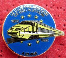 PIN'S TRANSPORT TGV JAUNE TRAIN SNCF ALSTHON PHILATELIQUE ZAMAC BALLARD 1000 EX