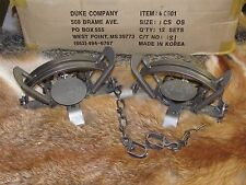 2 Duke #3 offset Coil Spring Traps  Beaver Fox Bobcat Coyote Wolf Trapping