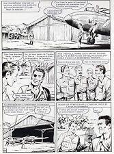 MELLIES : BIGGLES EN AFRIQUE SUPERBE PLANCHE ORIGINALE ARTIMA PAGE 11