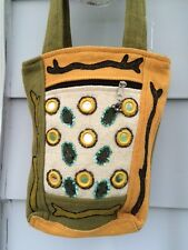 Rising Tide Canvas Bag- FAIR TRADE MADE IN NEPAL- NEW- SALE!