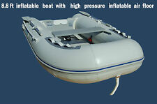 8.8 ft INFLATABLE BOAT with AIR FLOOR tender yacht dinghy fishing camping