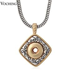 Vocheng 12mm Metal Snap Button Pendant Necklace Interchangeable Jewerly NN-050