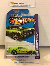 '71 Plymouth Road Runner #215 * Green * 2013 Hot Wheels * L15