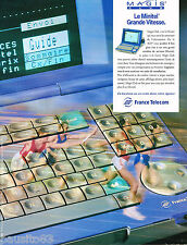 PUBLICITE ADVERTISING 065  1996  FRANCE TELECOM le minitel MAGIS