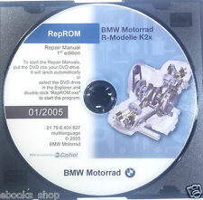 DVD MANUALE OFFICINA REPROM K2X WORKSHOP BMW MOTORRAD R 1200 GS RT ST -1^ed.2005