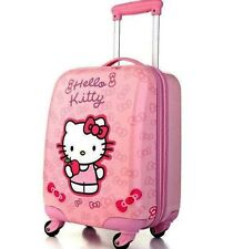Hello Kitty Kids Hard Shell 4 Wheel Travel Luggage Cabin Suitcase Trolley Bag