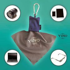 Micro-Fiber Camera & Lens Cleaning Cloth Keychain with Pouch x2