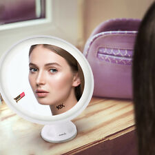 LED 10X Magnifying Makeup Shaving Vanity Mirror 360° Illuminated Bathroom Mirror